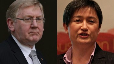 At odds ... Martin Ferguson and Penny Wong.