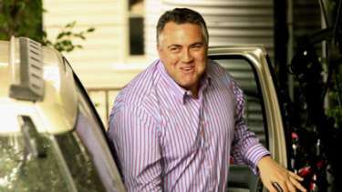 Opening doors... Joe Hockey at his Hunters Hill home yesterday, where he met Peter Dutton. The pair are considering standing as leader and deputy leader.