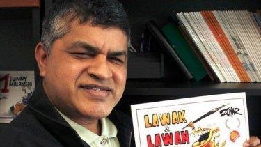 Malaysian cartoonist Zunar (the pen name of Zulkiflee Anwar Haque).