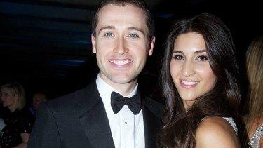Tom Waterhouse with his wife Hoda.