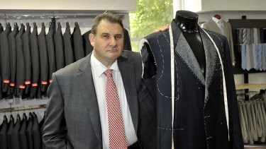 Tough decisions: Administrator Bruno Secatore at Fletcher Jones' Queen Street store.