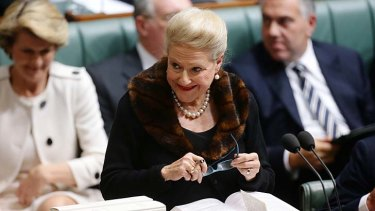 Parliament: NSW Liberal Bronwyn Bishop will be installed as Speaker.