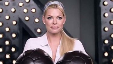 Balls up ... Sophie Monk's appearance in a new Lynx campaign has raised eyebrows.