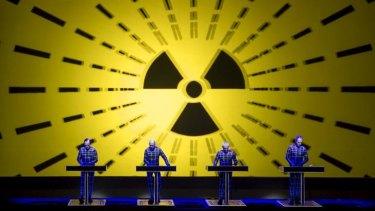 Enduring: Kraftwerk perform at the Sydney Opera House.