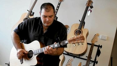 Blues guitarist Lloyd Spiegel.