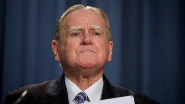 """""""I want less not more"""": Christian Democrats leader Fred Nile's stance on poker machines."""