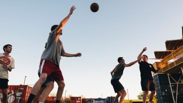 Playing sport at work has proven health outcomes.