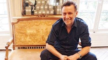 Australian hairdresser David Mallett in his Paris salon.