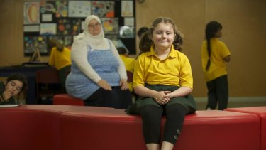 Rachel Woodlock, with daughter Yasmin, 8, thinks NAPLAN testing is a waste of time.