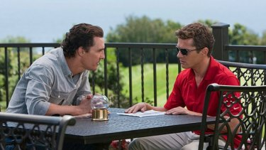 Don't lie to me, dude: Matthew McConaughey holds an expensive debrief with client Ryan Phillippe in The Lincoln Lawyer.
