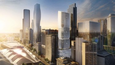 An artist's impression of the plans for 600 Collins Street.