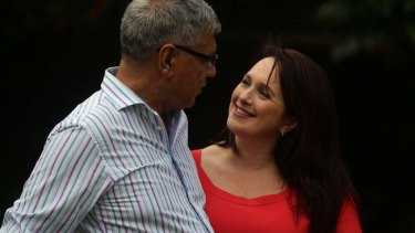 """Loving Elizabeth is like breathing oxygen … Mundine and wife Elizabeth."