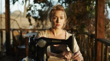 Kate Winslet and her trusty Singer sewing machine.