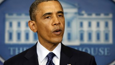 US President Barack Obama gives a press conference in the wake of the Boston Marathon bombings.