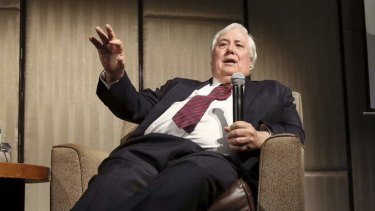 Wealth value to drop dramatically: Clive Palmer.