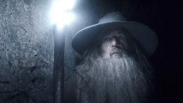 Ian McKellen as Gandalf in <em>The Hobbit: The Desolation of Smaug</em>, which took $5.465 million at the Australian Box Office on Boxing Day.
