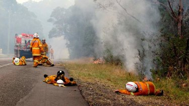 """""""We were waiting for the fire to come up to the road; we needed to take a break when we could..."""""""