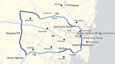 Changing face of Sydney  ... the M6 motorway, new harbour rail crossing, M4 East to inner west and M5 tunnel in the south will be added to this transport map under the master plan.