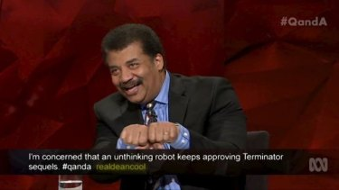 Neil deGrasse Tyson applied his scientific mind to the Adam Goodes booing saga on Q&A.