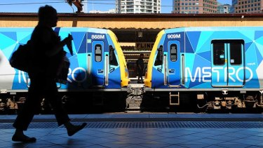 'Trains would stop at Flinders Street for just 40 seconds, a whistle-stop.'