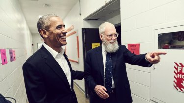 Former US president Barack Obama appears on <I>My Next Guest Needs No Introduction with David Letterman</I>.