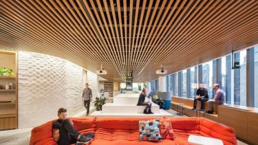 The Sydney office of Dropbox: designed to have the feel of an Australian living room.