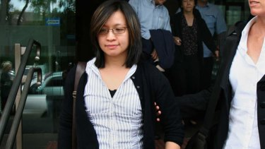 $2.6 million payout: Michelle Lee leaves court in 2008.