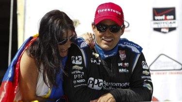 Long time between drinks: Juan Pablo Montoya  finally won another IndyCar race.