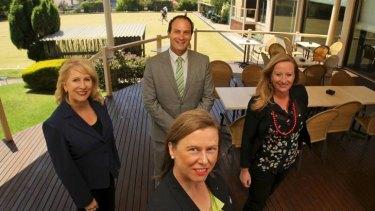 Sand belt state Liberal MPs Elizabeth Miller, (front), Lorraine Wreford, (left), Geoff Shaw and Donna Bauer.