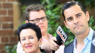 """""""A dog's breakfast of democracy"""": Alex Greenwich with lord mayor Clover Moore."""