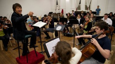 The North Sydney Youth Orchestra rehearses a piece ahead of their August performance.