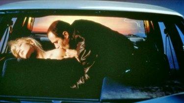 Auto-eroticism: Deborah Kara Unger and Elias Koteas in David Cronenberg's 1996 film of J.G. Ballard's <i>Crash.</i>