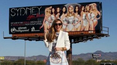 Former Bardot member Belinda Chapple promoting her new show <em>Sydney After Dark</em> at the Planet Hollywood Casino in Las Vegas.