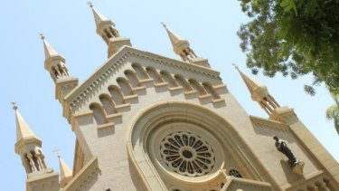 St Matthew's Catholic Cathedral near the Sudanese capital, Khartoum. Under sharia law in Sudan, Muslims who convert to Christianity can be sentenced to death.