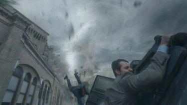 Photobomb: Sarah Wayne Callies and Richard Armitage in <em>Into the Storm</em>.