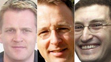Contenders ... Simon Berger, Paul Fletcher and  Julian Lesser.