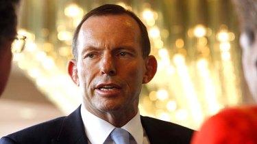 Suspicious behaviour: Tony Abbott.