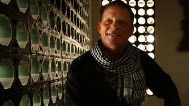 TV show host Wahyu Suparno Putro - formerly Dale Andrew Colins-Smith - at his mosque in Bekasi, a satellite city of Jakarta.