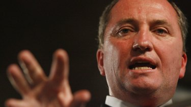 """Barnaby Joyce...he's been called worse things than """"a fool""""."""