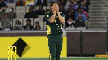 Can't look ...   Mitchell Johnson.