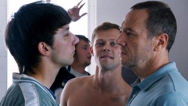 Tense: Kirill Emelyanov faces off with Olivier Rabourdin (right) in Eastern Boys.