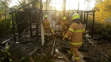 Firefighters discovered three blazes at the gardens.