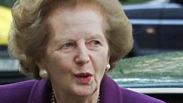 Out of touch: Baroness Margaret Thatcher.