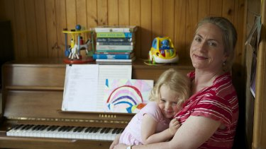 Christine McCombe with three-year-old daughter Freya. <i>Photo: Wayne Taylor</i>