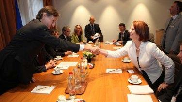 Former Prime Minister Julia Gillard at NATO.