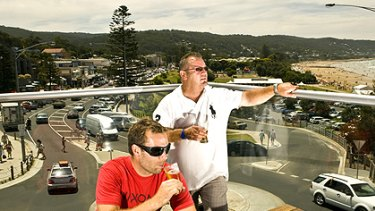 John Upham, right, and his son, David, who bought the Lorne Hotel are the face of the return of the traditional publican.