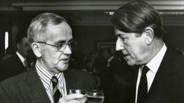 Connected ...  Renwick with the former NSW premier Neville Wran.