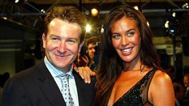 Flashback ... Mark McInnes with David Jones' model Megan Gale, pictured in 2003.