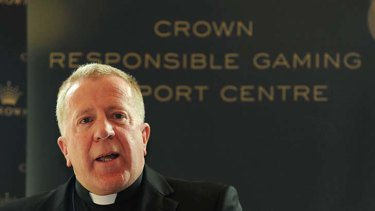 Father James Grant, who performs the surprising role of Crown Casino chaplain.