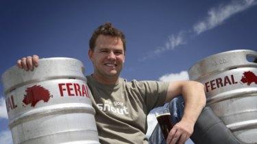 Chief judge Brendan Varis kicks back with a cold ale.
